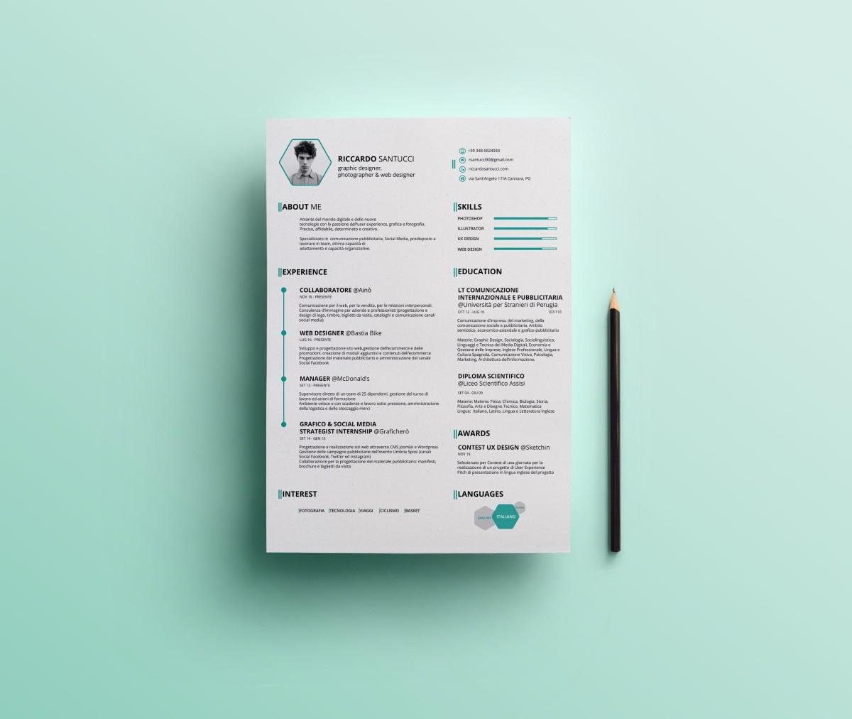 Personal CV – Riccardo Santucci